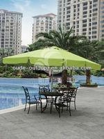 large outdoor metal umbrella for restaurant