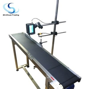 Industrial automatic belt conveyor system for Hand held inkjet printers expiry day printing machine