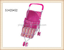 foldable metal baby walking carrier trolley toy for doll