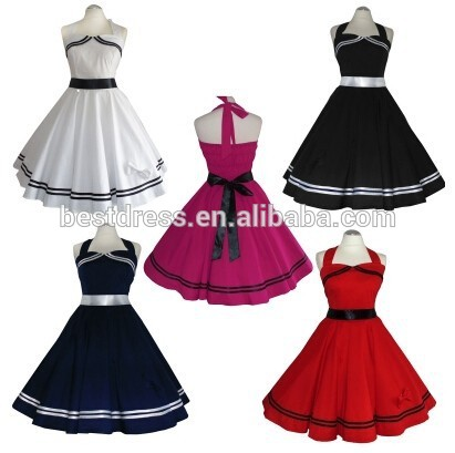 Clothes walson China factory walson instyles wholesale colorful Rockabilly dress 50er Jahre Abendkleid Petticoat