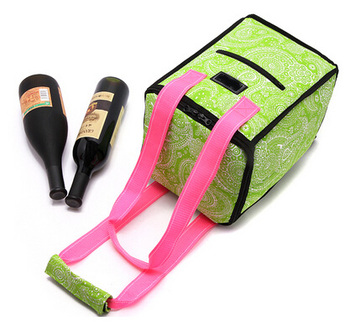 promotional soft cheap commercial frozen ice picnic wine cooler tote bag