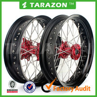Motorcycle CRF450 R Supermoto High Strength CNC Aluminum Alloy Spoke Wheel For Sale
