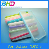 TPU+PC case for Samsung Galaxy note 3 transparent case