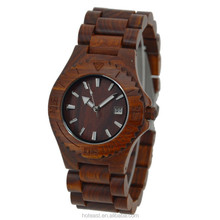 charming natural wholesale wooden watch vogue wrist wood watch for men and women with customized logo
