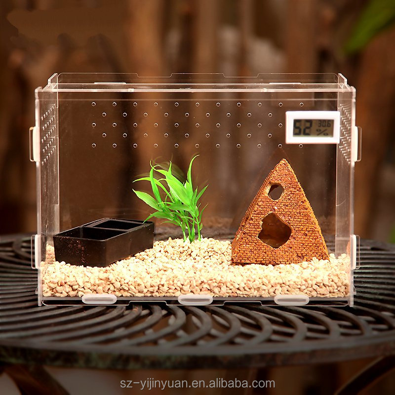 Factory Supply Acrylic Terrarium for Reptiles / Acrylic Reptile Display Cages