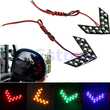 2pcs 4 Colors 14-SMD LED Arrow Panels Light For Car Side Mirror Turn Signal Indicator Light-PY
