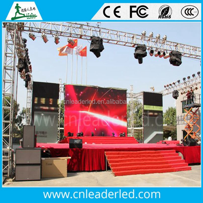 Leader outdoor display p10 smd full color led video wall price