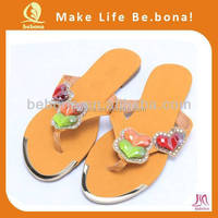 2015 China wholesale flat rhinestone bling flip flop