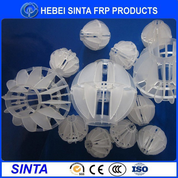 50mm plastic polyhedral hollow ball for tower packing