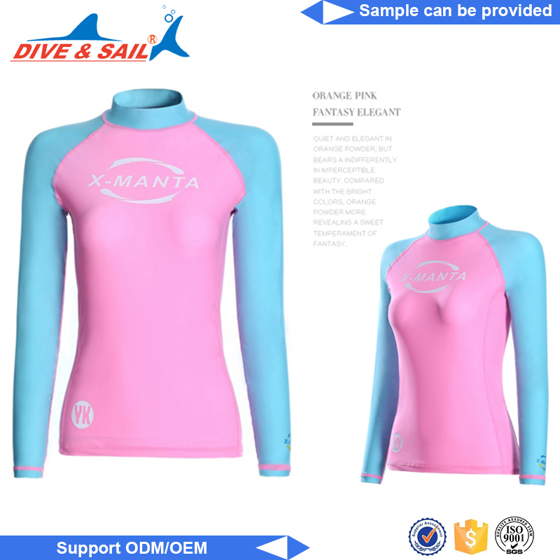 wave style Surf suit long sleeve lycra rash guard long sleeves