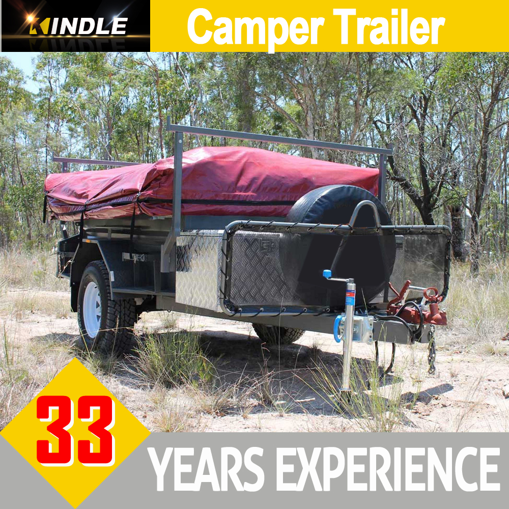 Motorhome Travel Trailer Removable Camper Trailer with Roof Top Tent