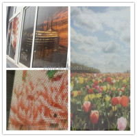 Plastic removable one way vision,perforated window/glass sticker vinyl film