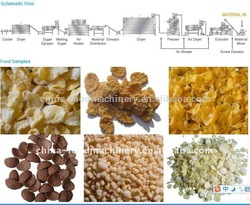 Factory Hot Sales puffed corn snacks machine/corn puff snack extruder