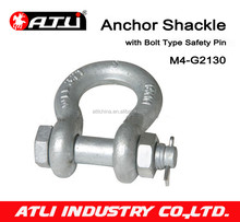 US Type Steel Drop Forged Galvanized Screw Pin Anchor Shackle