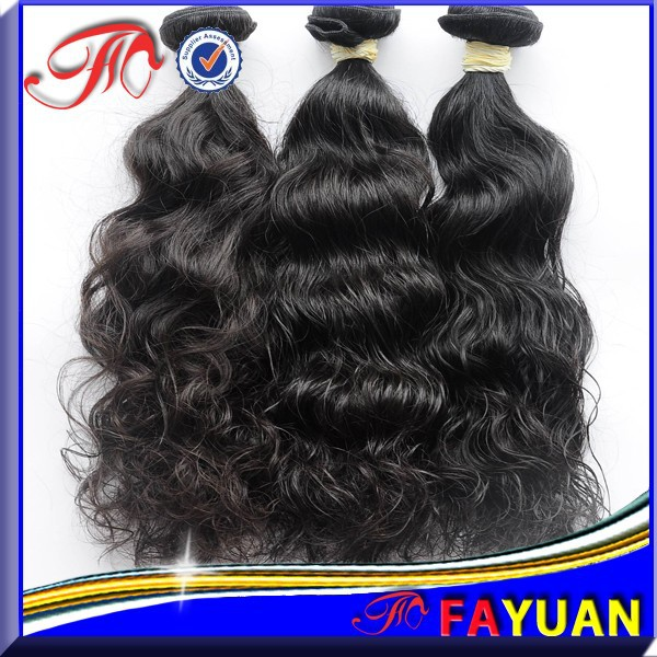 High quality Queen Hollywood Hair!!! Natural Color Double Weft Virgin Remy Brazilian deep wave Hair weave