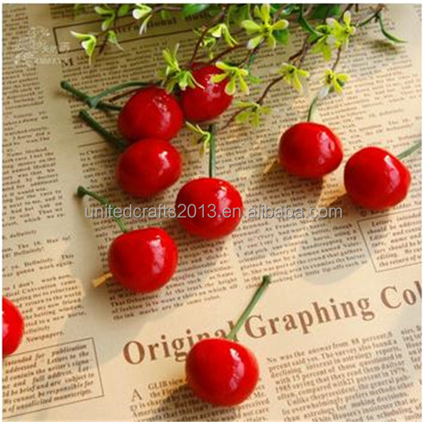 China supplier New Indoor Decorative Foam Artificial Fruit Cherry