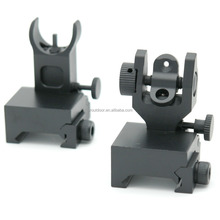 Tactical Rapid Transition Folding Micro Set Front and Rear Back Up Iron Sight