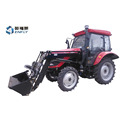 Chinese DQ554G 55hp 4WD farm tractor with air conditioner cabin, 4 in 1 front end loader