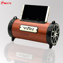 Fashion Christmas Gift walking USB mini portable ear bluetooth wood speaker in Shenzhen Foste China