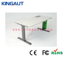 standing up 2 person desk in office