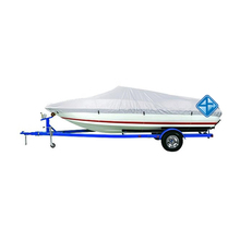 Customized Waterproof Canvas 14-16 ft Silver 150D Boat Cover