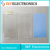 China made custom size blister plastic pvc packaging box with hanger packing for cell phone case