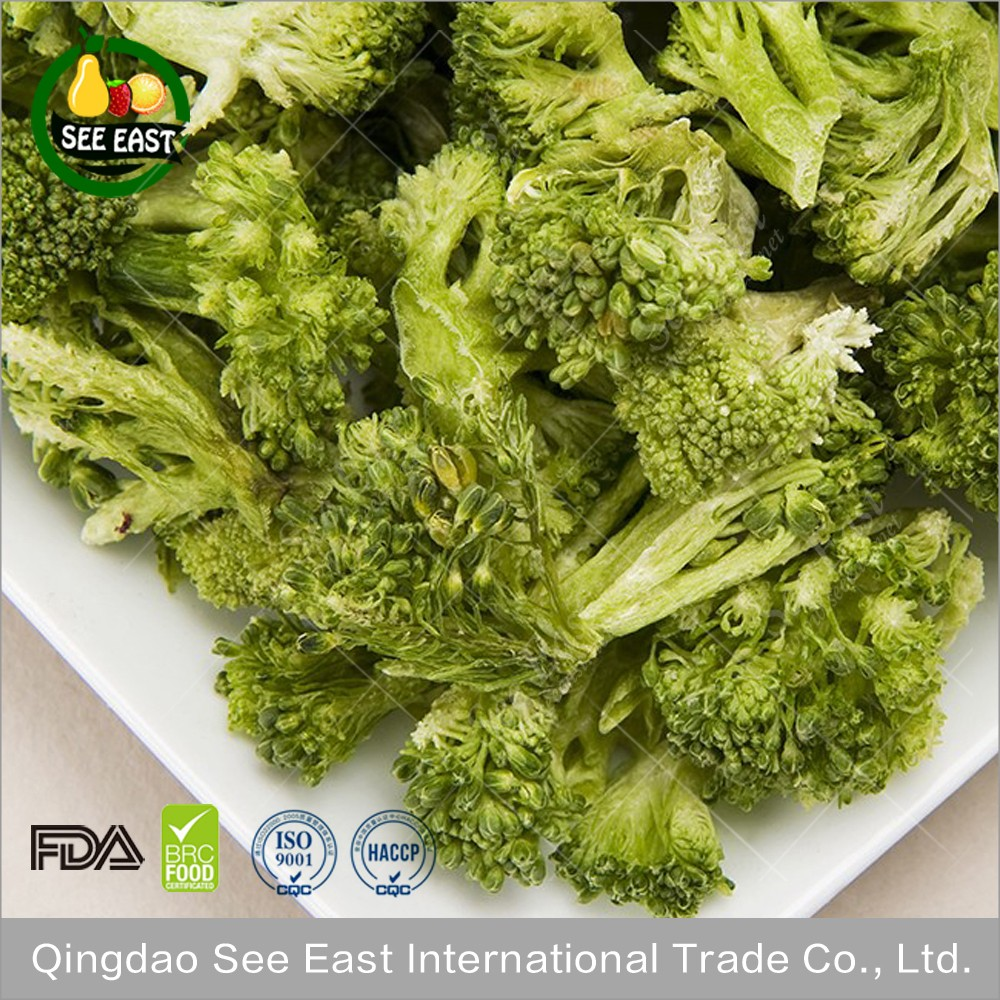HACCP Certified fd vegetable freeze dried broccoli for fast food