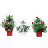2016 Pine Mix white and red Artifical Christmas tree for table decoration