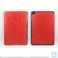 Luxury Smooth Skin Back Stand Tablet Leather Case for iPad Mini P-iPDMINICASE122