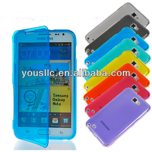 Wallet tpu silicone gel mobile phone case cover for samsung galaxy note 1 2 S3 S4 S3 mini