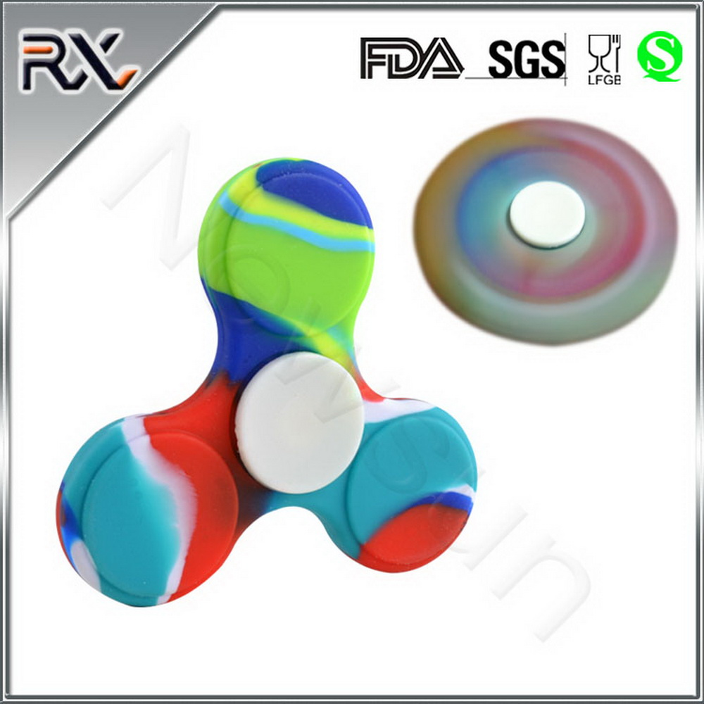 2017 Hot selling Low MOQ Colorful Decompress Spinning Top High Speed Fidget Spinner Toy Relieve Stress Fidget Spinner