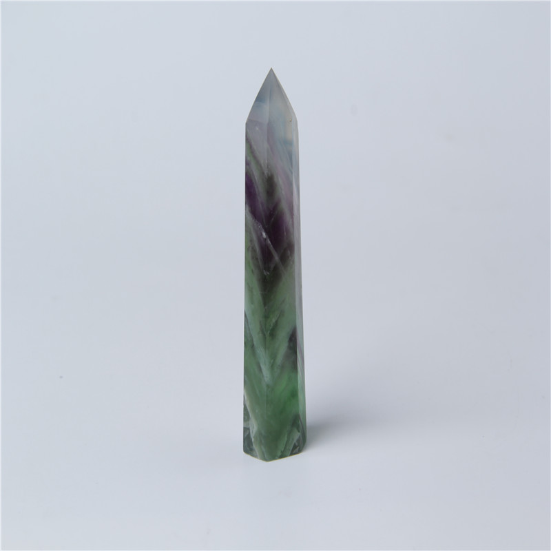 HJT Wholesale spiritual healing products Raw crystal Flourite <strong>Points</strong>