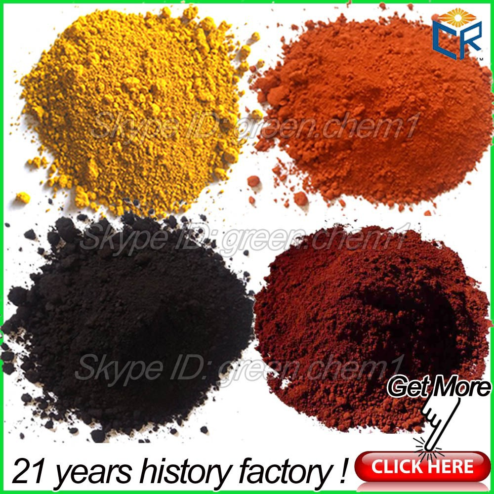 High Purity Synthetic Pigment Iron Oxide Red/Yellow/Black/Brown/Green Powder Chemical Formula