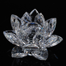 Wholesale elegant luxury cheap clear transparent shining crystal lotus