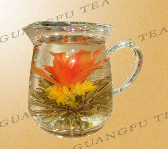 Flower tea lily jasmine marigold blooming tea flowering tea