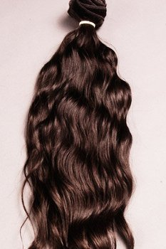 "REMY TEMPLE WAVY HAIR 10-12"" Black/Brown Color Indian Virgin Hair, Indian Virgin Remy Hair, Curly Hair"