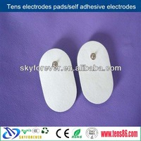5*8cm oval non-woven tens electrodes for breast massage