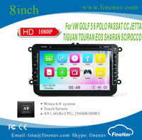 8inch A9 Wince 6.0 Car Stereo GPS for for Magotan/Caddy/Passat/Sagitat/Golf/Tiguan/Touran/Jetta/Sooda/Seat/CC/Polo/Golf 5/Golf 6