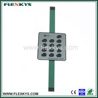 Keypad touch screen metal dome membrane switch panel with OEM sevice J2