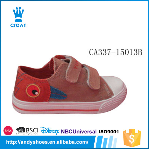 2017 Newest buckle strap design cheap kids sizes casual canvas shoes prices