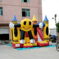 2016 hot kids smile inflatable castle, inflatable bouncy castle, inflatable jumping castle