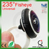 Universal Detachable 235 Degree Super Fish Eye Lens Clip-on Mobile Phone Camera Lens for iPhone Samsung HTC One