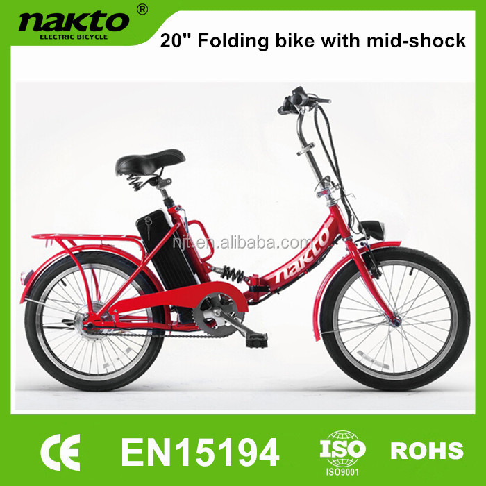 2016 new electric bicycle with mid shock