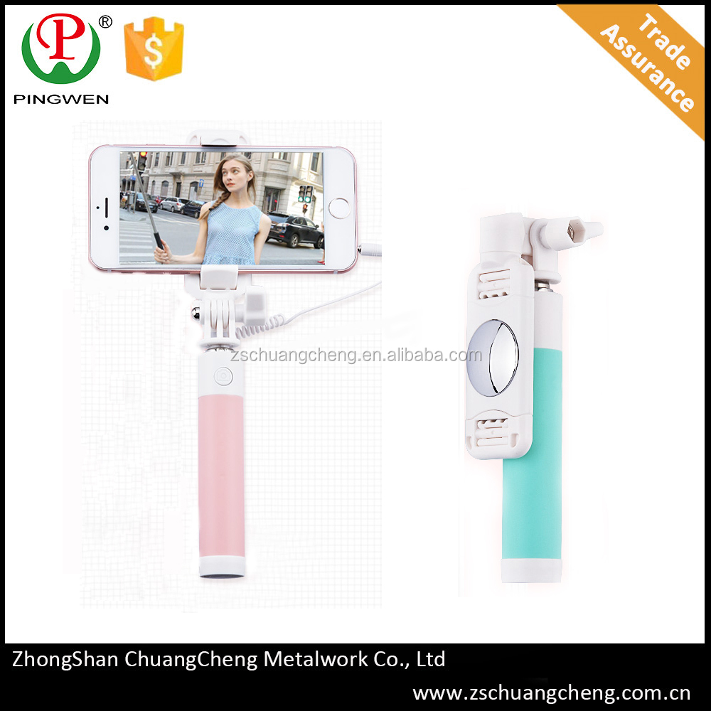 New java supported mobile phones selfie stick mini pocket size selfie stick with high quality