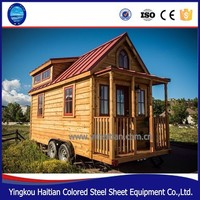 Wooden chalet prefabricated green tiny home on wheels container houses with wheels cabins mobile trailer houses