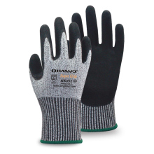 HANVO 13G Salt&Pepper Cut Resistance Liner with Sandy Nitrile Coating Glove