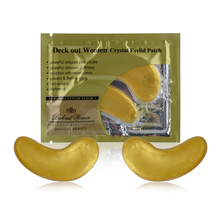 24K Gold Q10 Collagen Crystal Eye Mask Golden Collagen Eye Mask