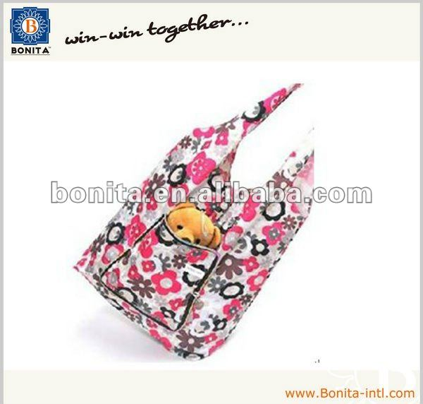 Reusable shopping bag, folding shopping tote bag