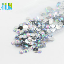 High Quality Crystal AB Color Non Hot Fix Resin Stones for Nail Art , D-171-Crystal AB