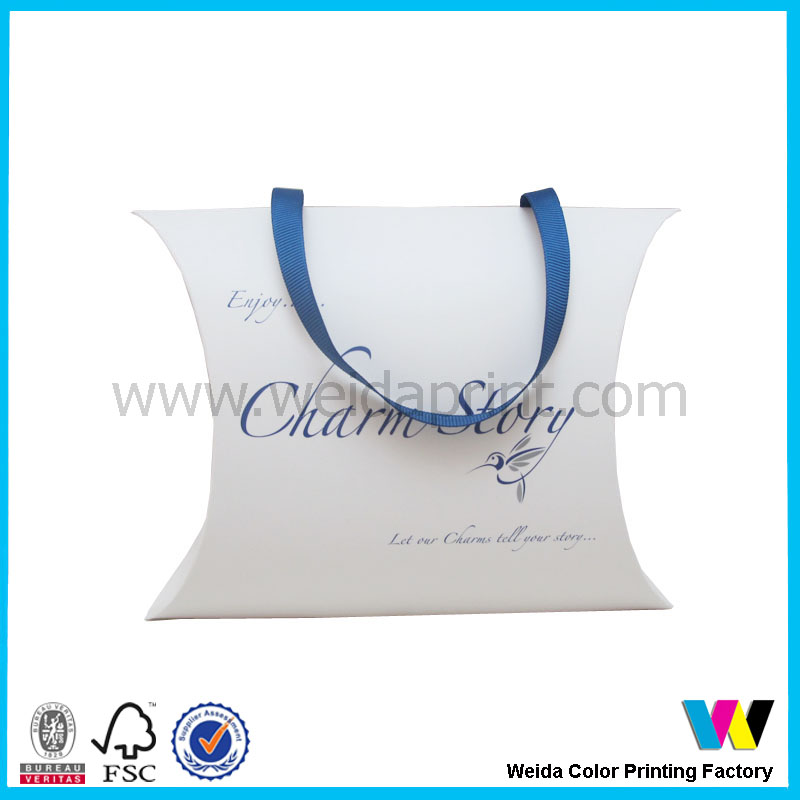 folding pillow box for gift packaging